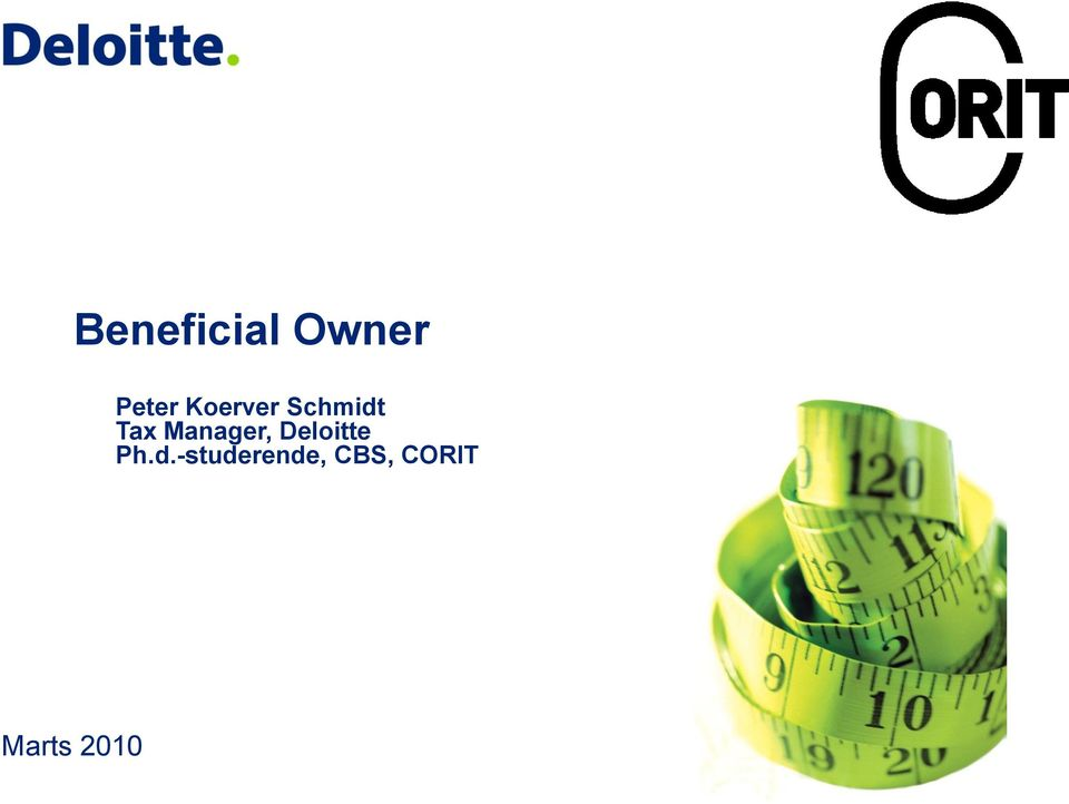Manager, Deloitte Ph.d.