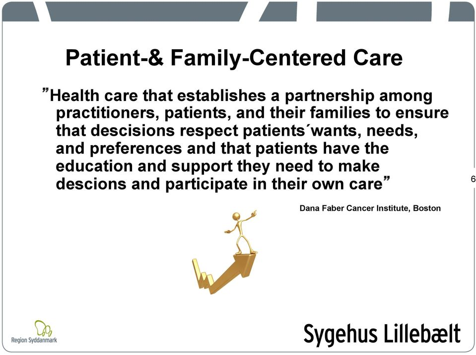 patients wants, needs, and preferences and that patients have the education and