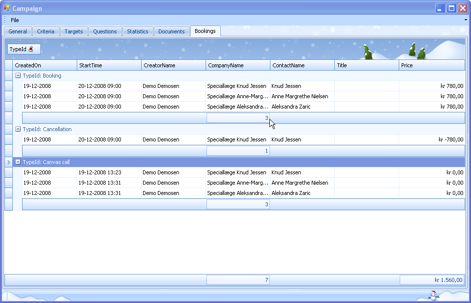 208 CRM with ChannelCRM External bookings The booking of the meeting itself takes place from Telecenter