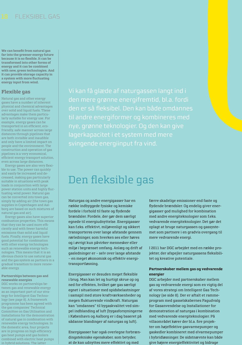 Flexible gas Natural gas and other energy gases have a number of inherent physical and chemical advantages over solid and liquid fuels. These advantages make them particularly suitable for energy use.