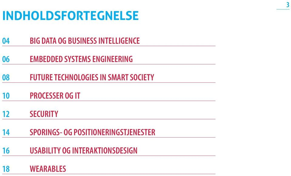 SOCIETY 10 PROCESSER OG IT 12 SECURITY 14 SPORINGS- OG