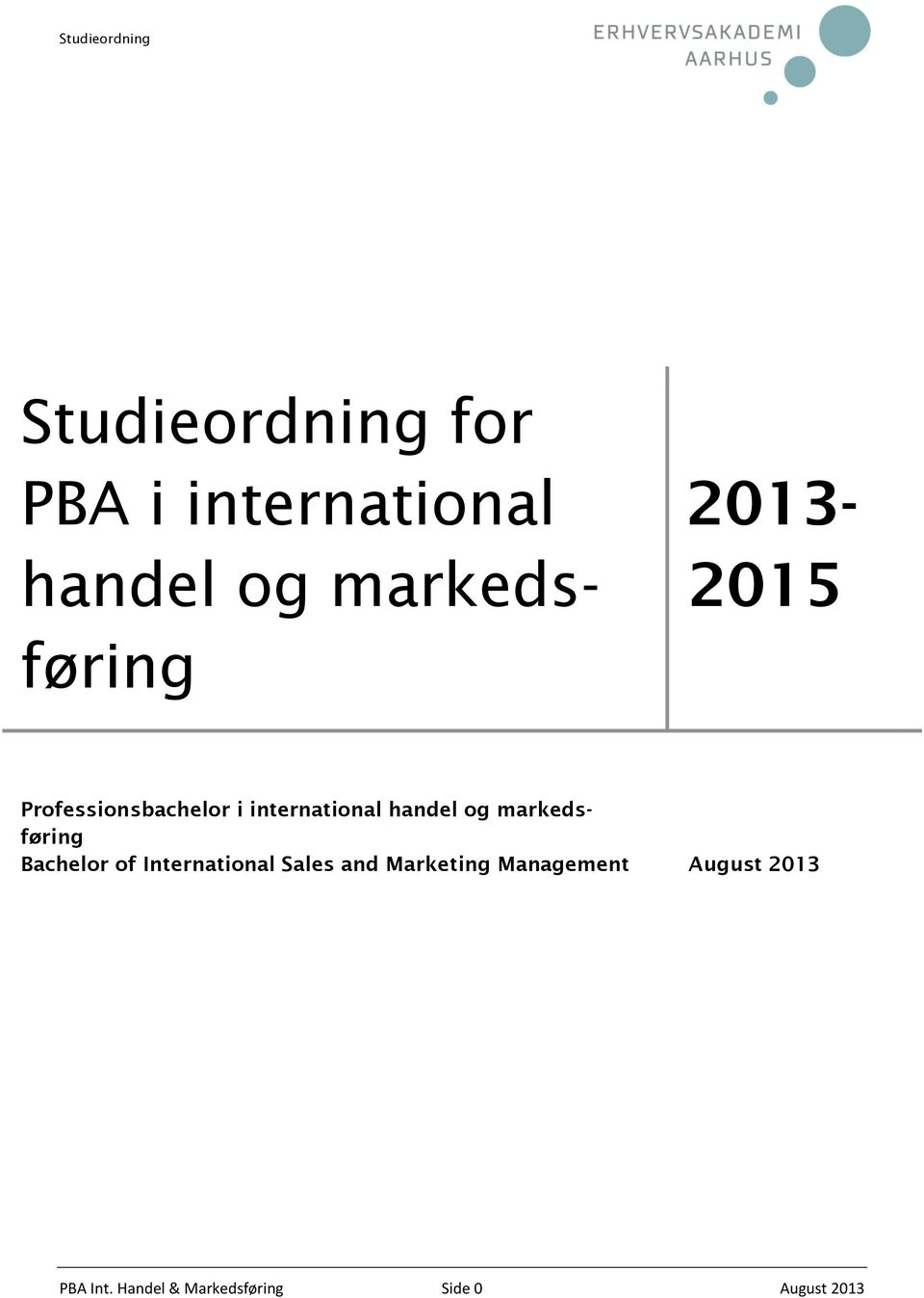 markedsføring Bachelor of International Sales and Marketing