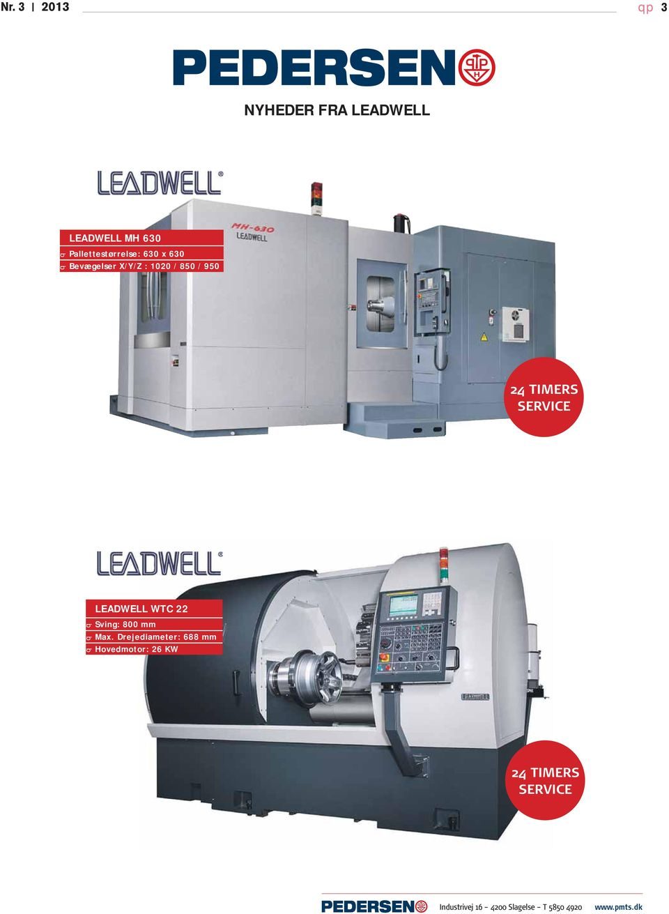 LEADWELL WTC 22 Sving: 800 mm Max.