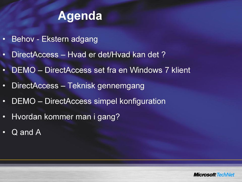 DEMO DirectAccess set fra en Windows 7 klient