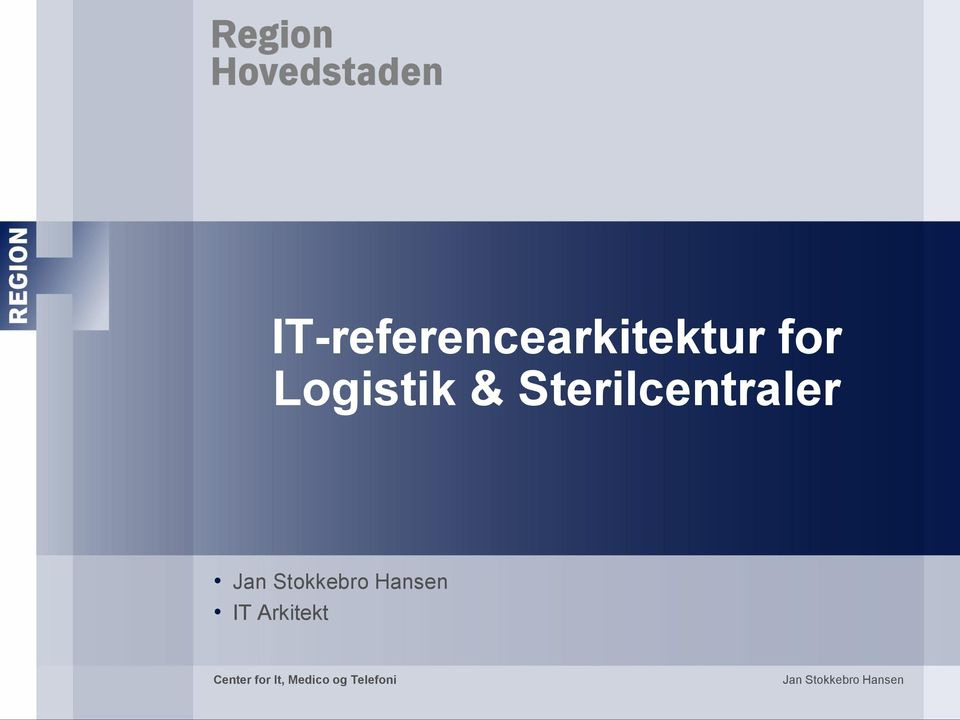 Hansen IT Arkitekt Center for It,
