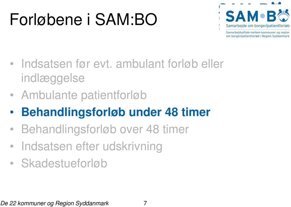 patientforløb Behandlingsforløb under 48 timer