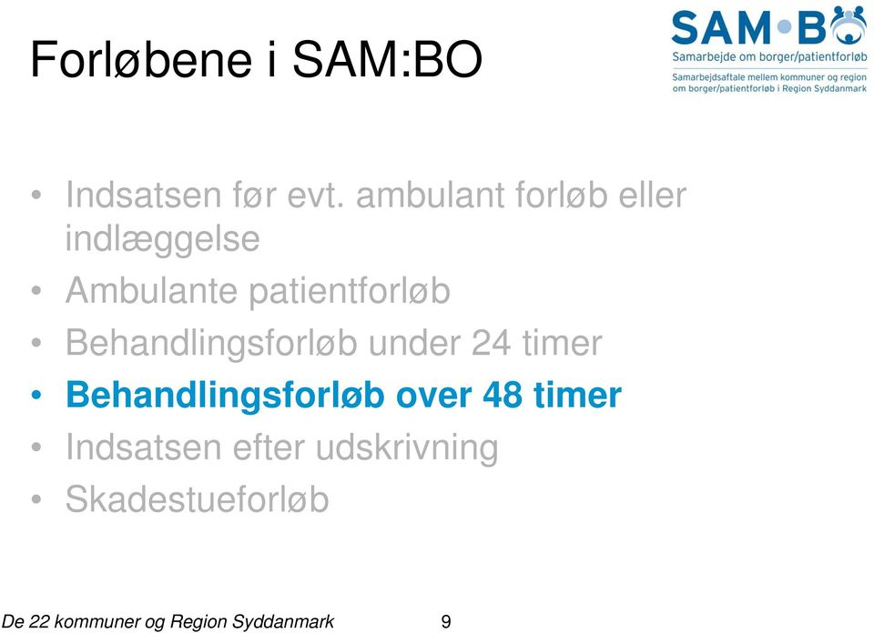 patientforløb Behandlingsforløb under 24 timer