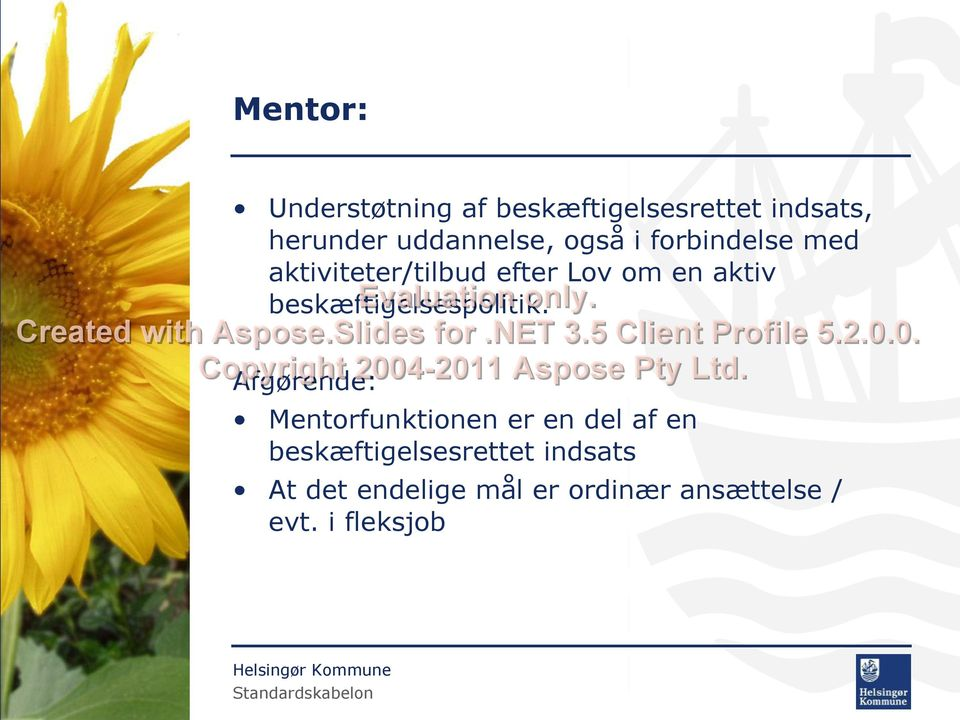 5 Client Profile 5.2.0.0. 2004-2011 Aspose Pty Ltd.