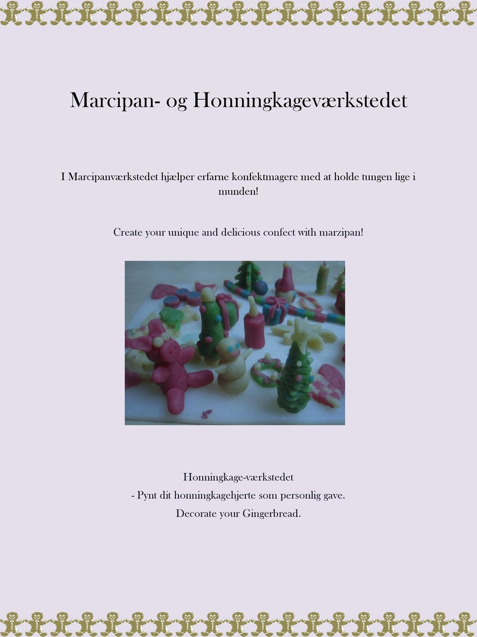Create your unique and delicious confect with marzipan!