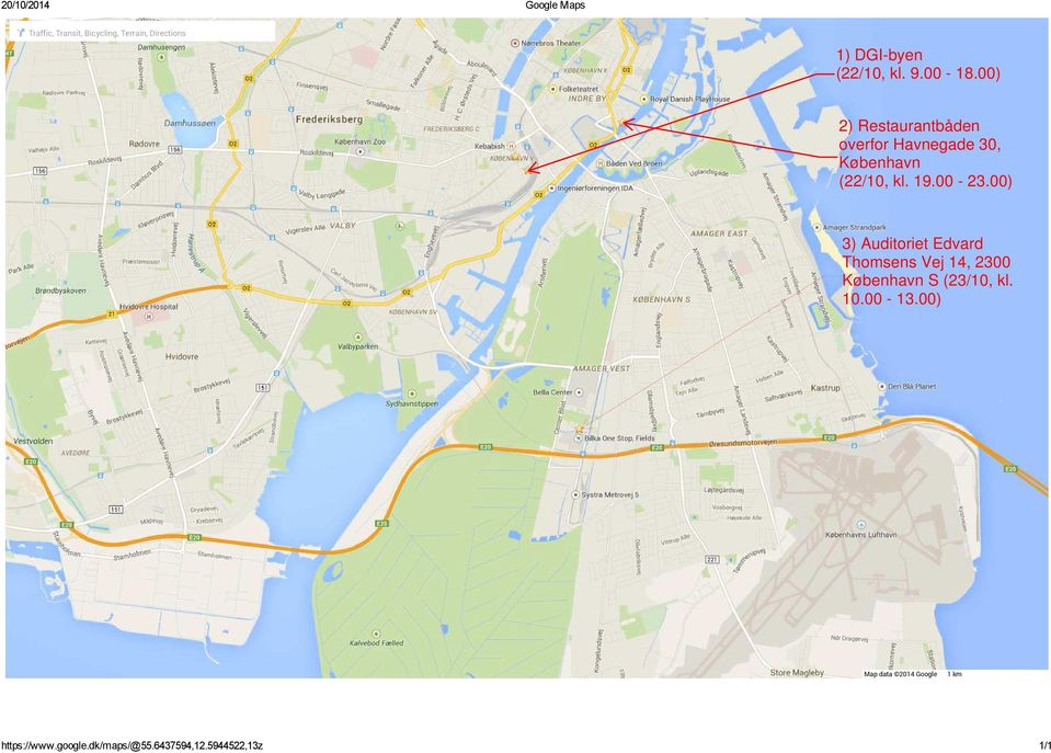 Directions Map data 2014 Google 1 km