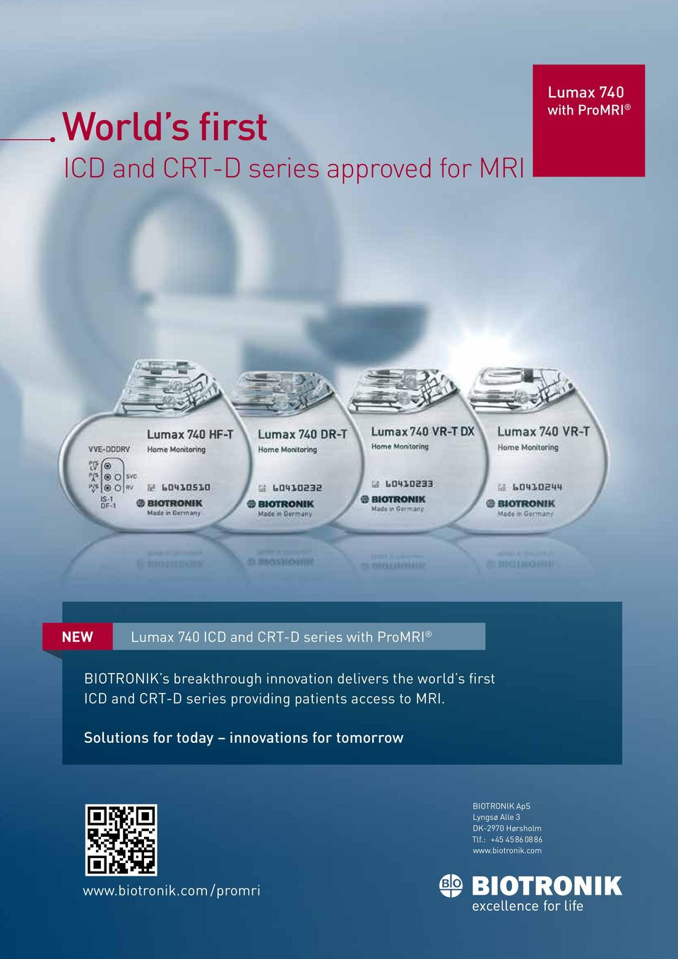 CRT-D series providing patients access to MRI.