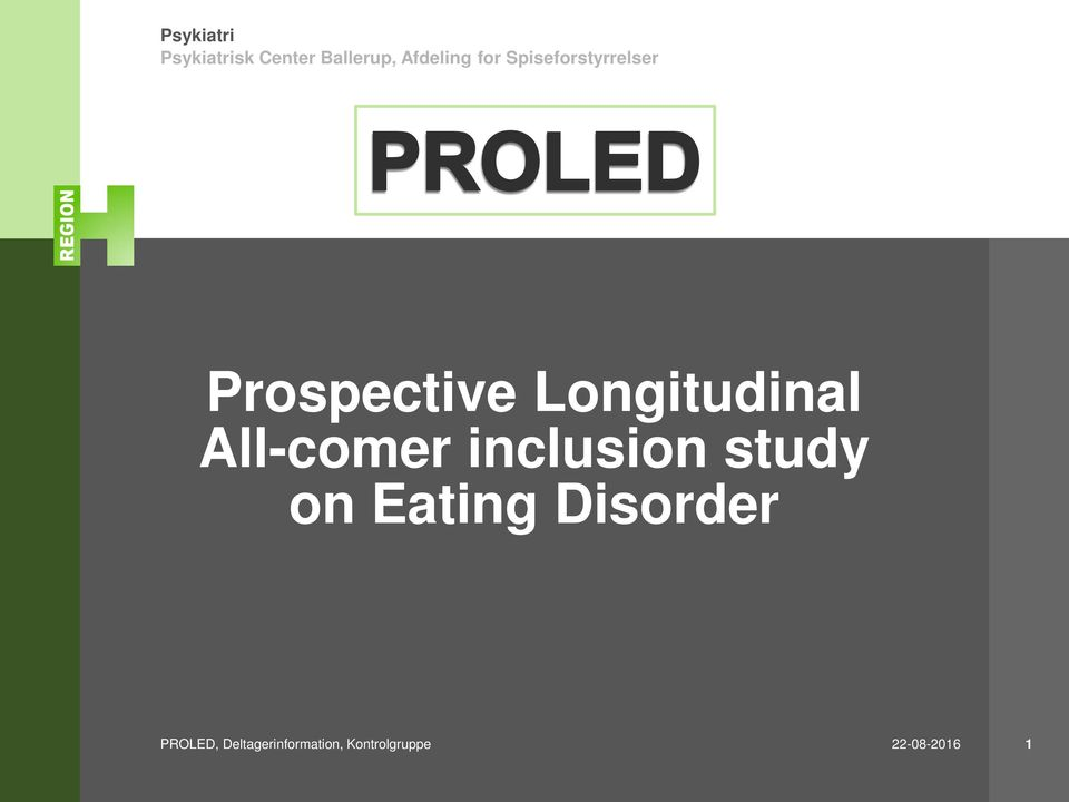 Eating Disorder PROLED,