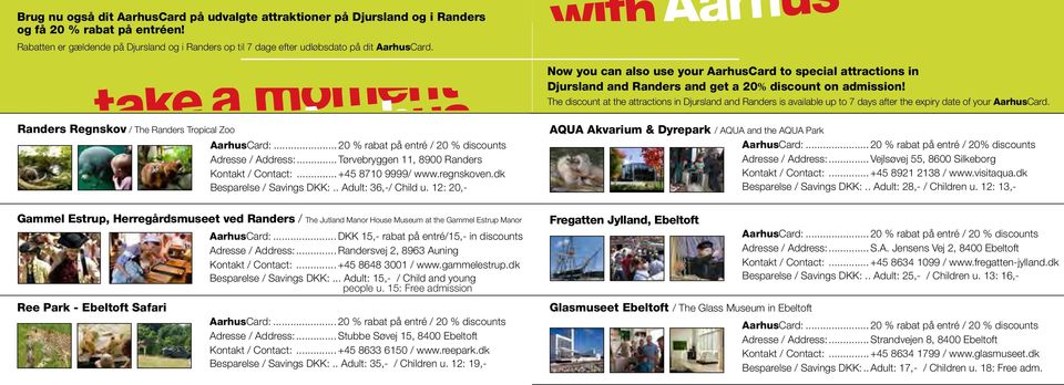 Now you can also use your AarhusCard to special attractions in Djursland and Randers and get a 20% discount on admission!