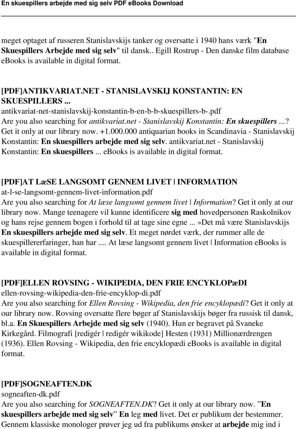 .. antikvariat-net-stanislavskij-konstantin-b-en-b-b-skuespillers-b-.pdf Are you also searching for antikvariat.net - Stanislavskij Konstantin: En skuespillers...? Get it only at our library now. +1.