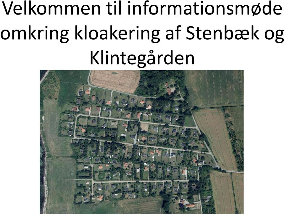 omkring kloakering