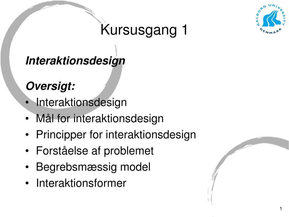 Principper for interaktionsdesign Forståelse