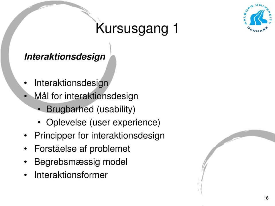 (user experience) Principper for interaktionsdesign