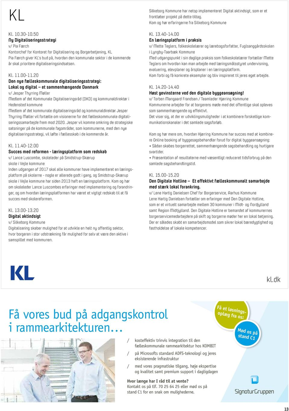 digitaliseringsindsatsen. Kl. 11.00-11.