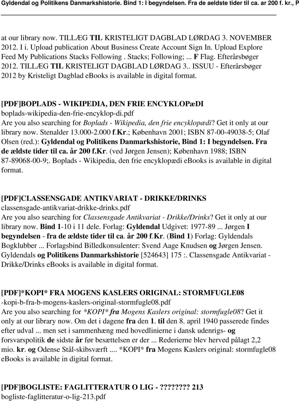 [PDF]BOPLADS - WIKIPEDIA, DEN FRIE ENCYKLOPæDI boplads-wikipedia-den-frie-encyklop-di.pdf Are you also searching for Boplads - Wikipedia, den frie encyklopædi? Get it only at our library now.