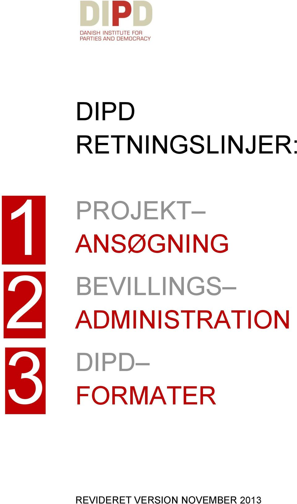 ADMINISTRATION DIPD FORMATER