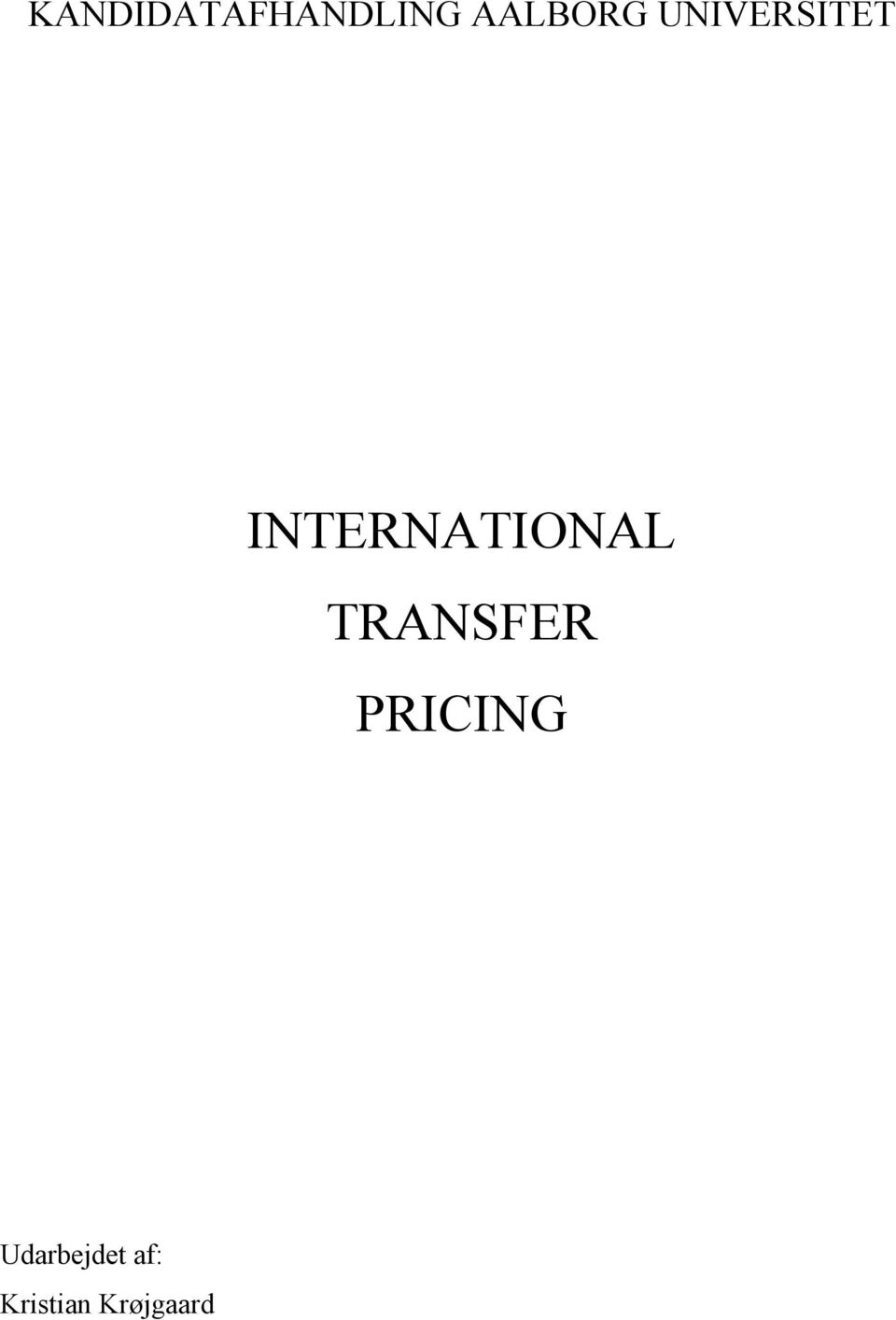 INTERNATIONAL TRANSFER