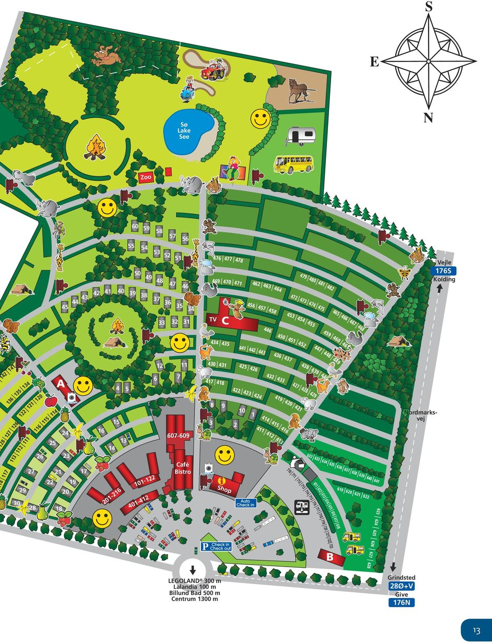 723 626 627 1 722 20 72 618 7 719 61 7 718 616 717 628 B LEGOLAND 300 m Lalandia 100 m Billund Bad 500 m Centrum 1300 m 620 639 615 716 614 715 613 714-4 401 619 612 12 611 Shop 713 18 6 21 1-20 633