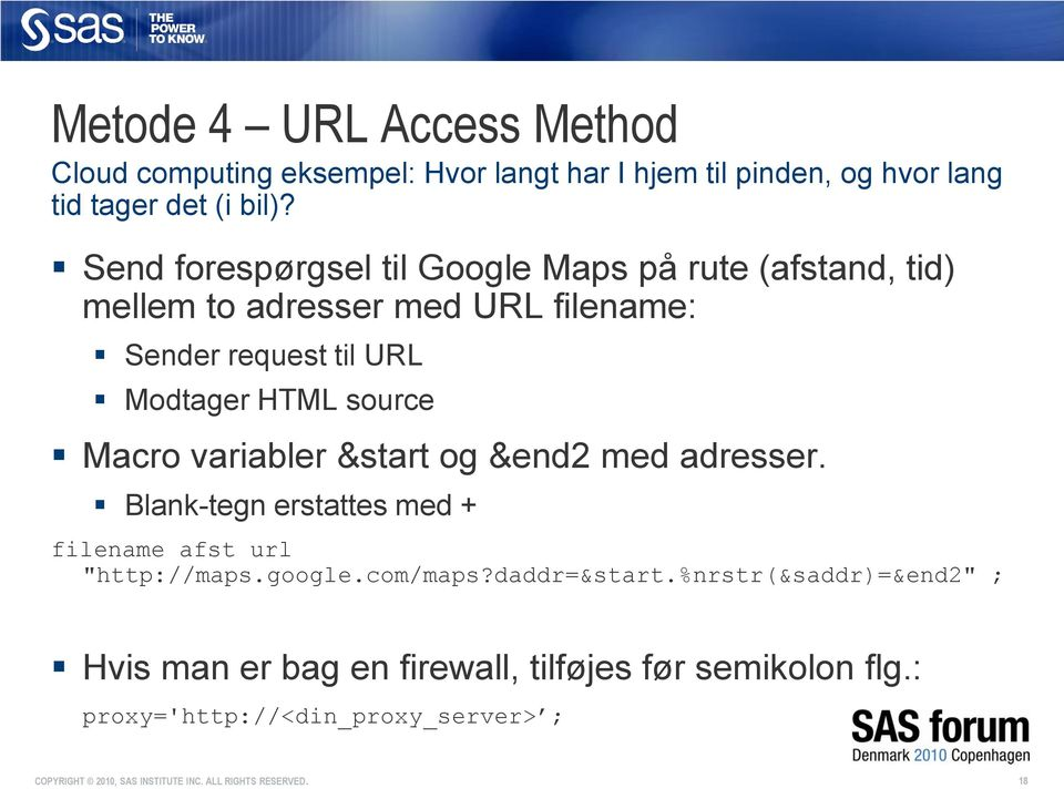 "HTML source Macro variabler &start og &end2 med adresser. Blank-tegn erstattes med + filename afst url ""http://maps.google."