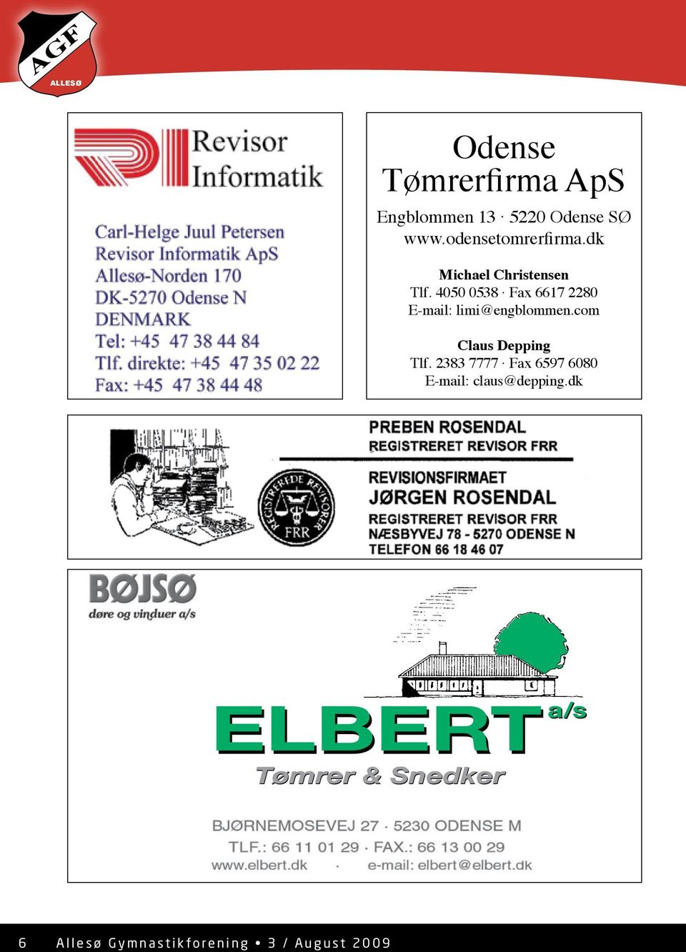 4050 0538 Fax 6617 2280 E-mail: limi@engblommen.com Claus Depping Tlf.