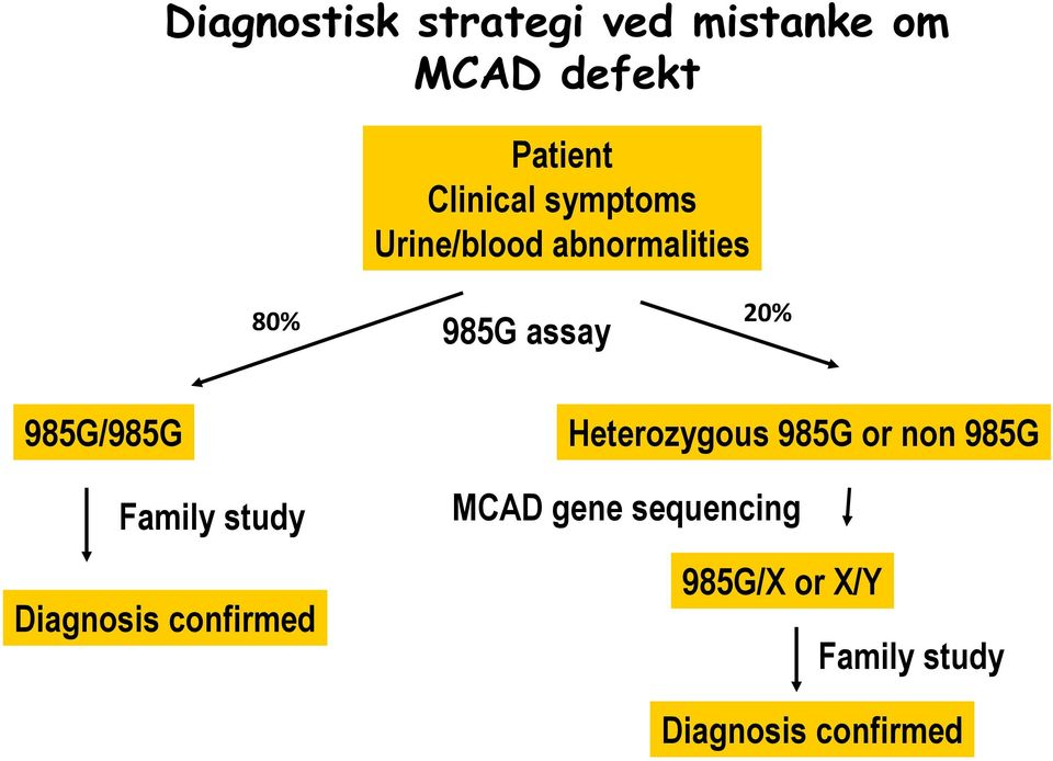 985G/985G Family study Diagnosis confirmed Heterozygous 985G or