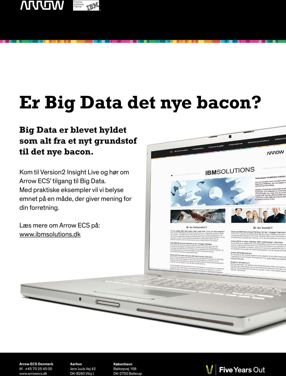 Kom til Version2 Insight Live og hør om Arrow ECS tilgang til Big Data.