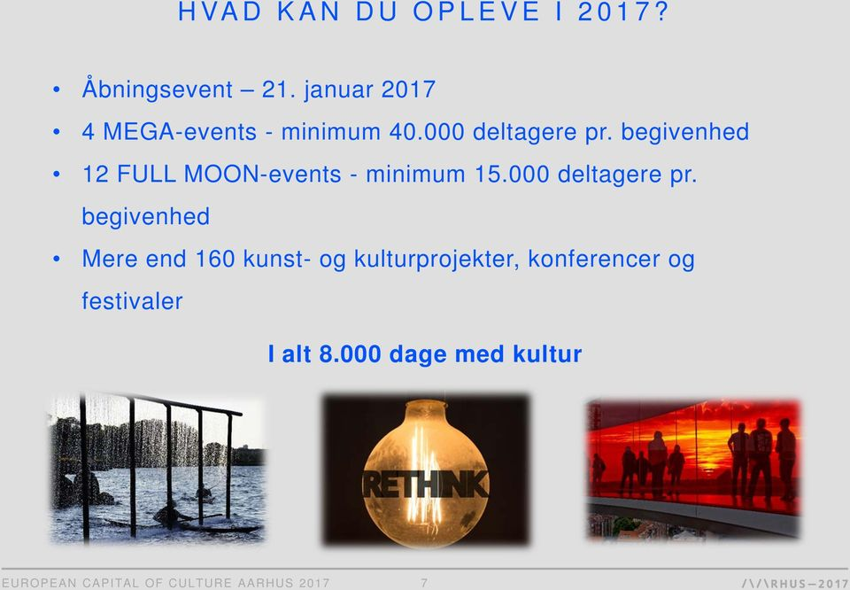 begivenhed 12 FULL MOON-events - minimum 15.000 deltagere pr.