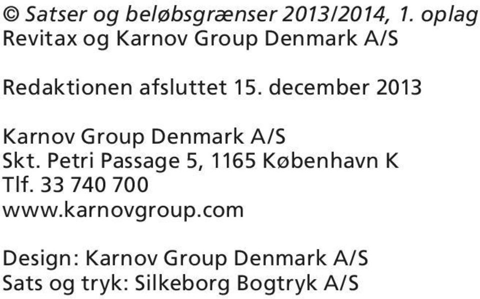 december 2013 Karnov Group Denmark A/ kt.