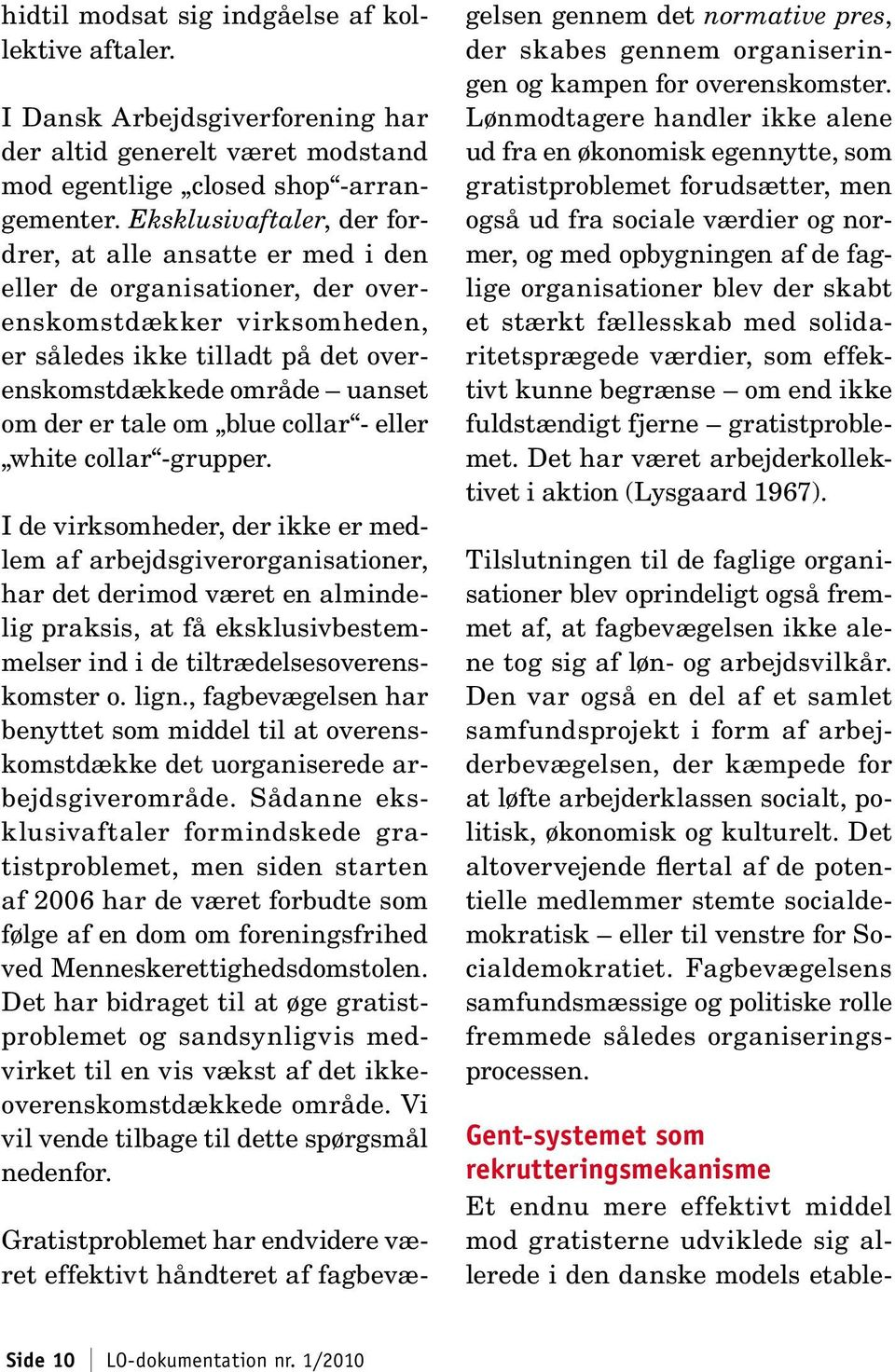 tale om blue collar - eller white collar -grupper.