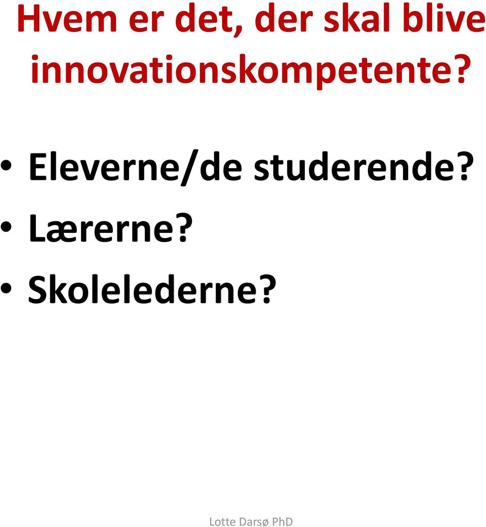innovationskompetente?