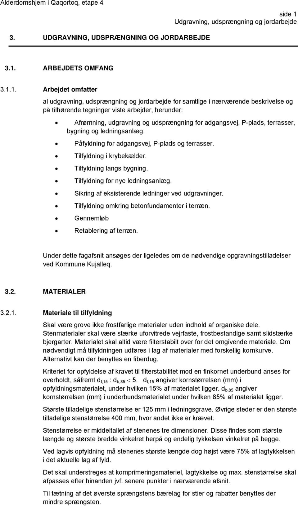 ARBEJDETS OMFANG 3.1.