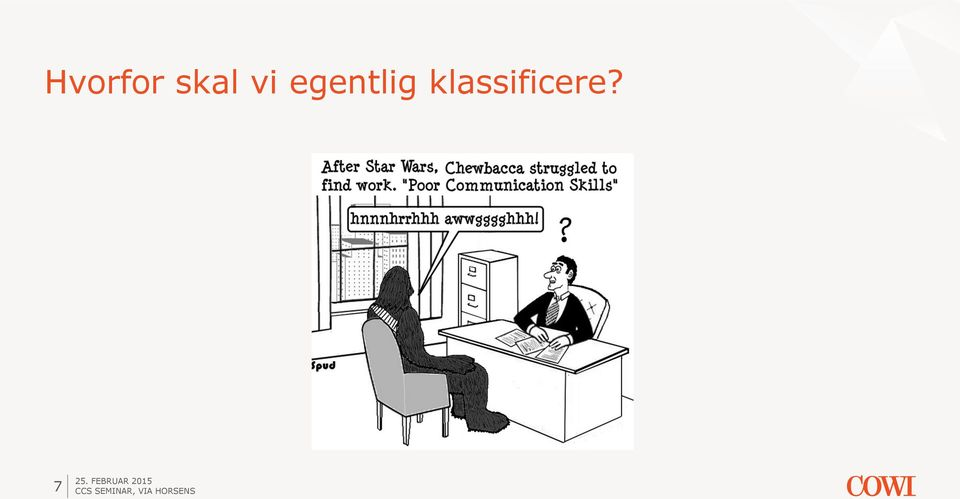 klassificere?