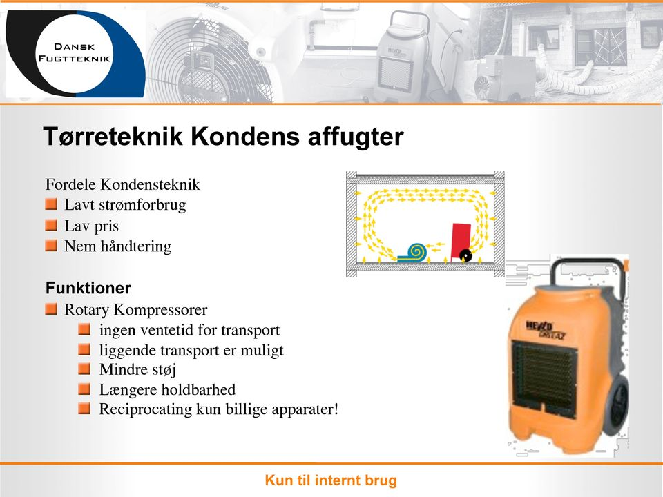 Kompressorer ingen ventetid for transport liggende transport