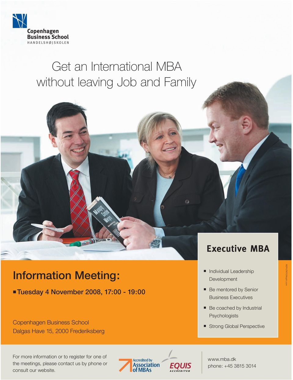 com Tuesday 4 November 2008, 17:00-19:00 Be mentored by Senior Business Executives Be coached by Industrial