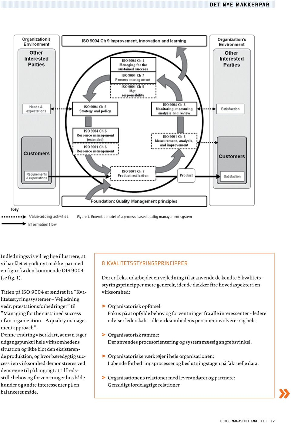 præstationsforbedringer til Managing for the sustained success of an organization A quality Indledningsvis management vil approach.