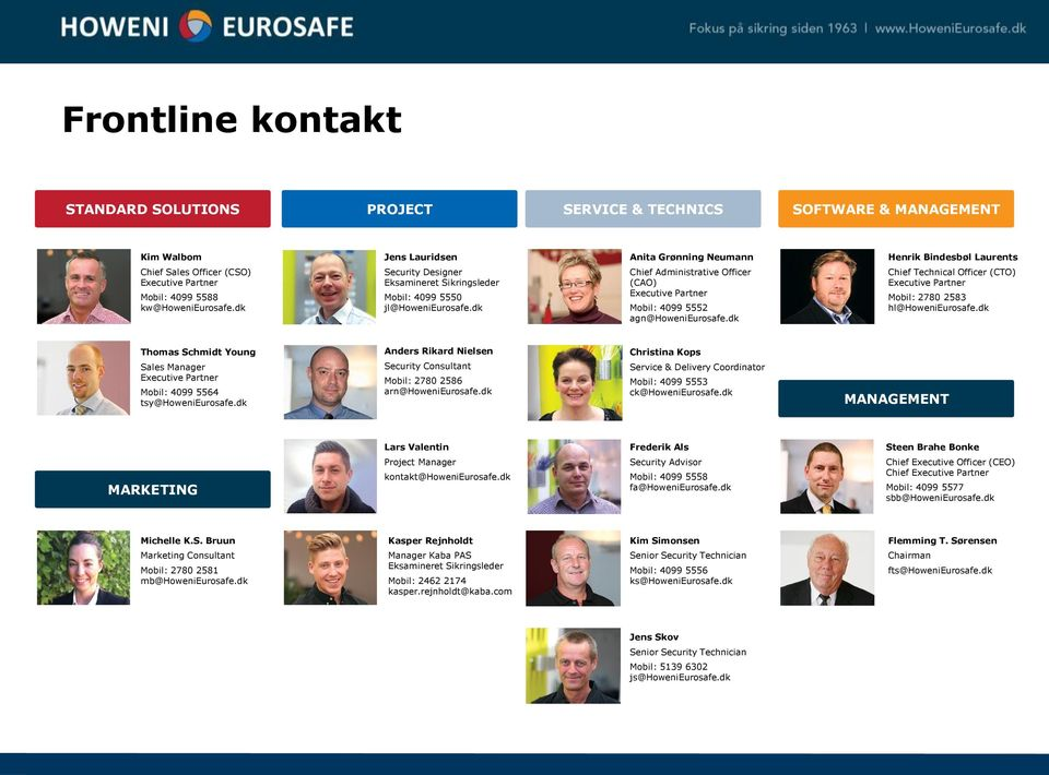 dk Anita Grønning Neumann Chief Administrative Officer (CAO) Executive Partner Mobil: 4099 5552 agn@howenieurosafe.