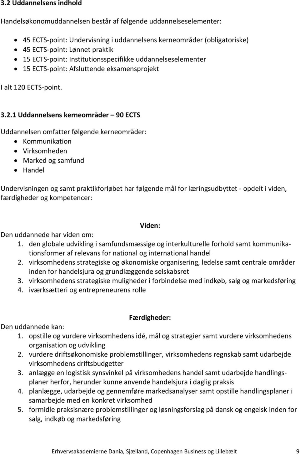 ECTS-point. 3.2.
