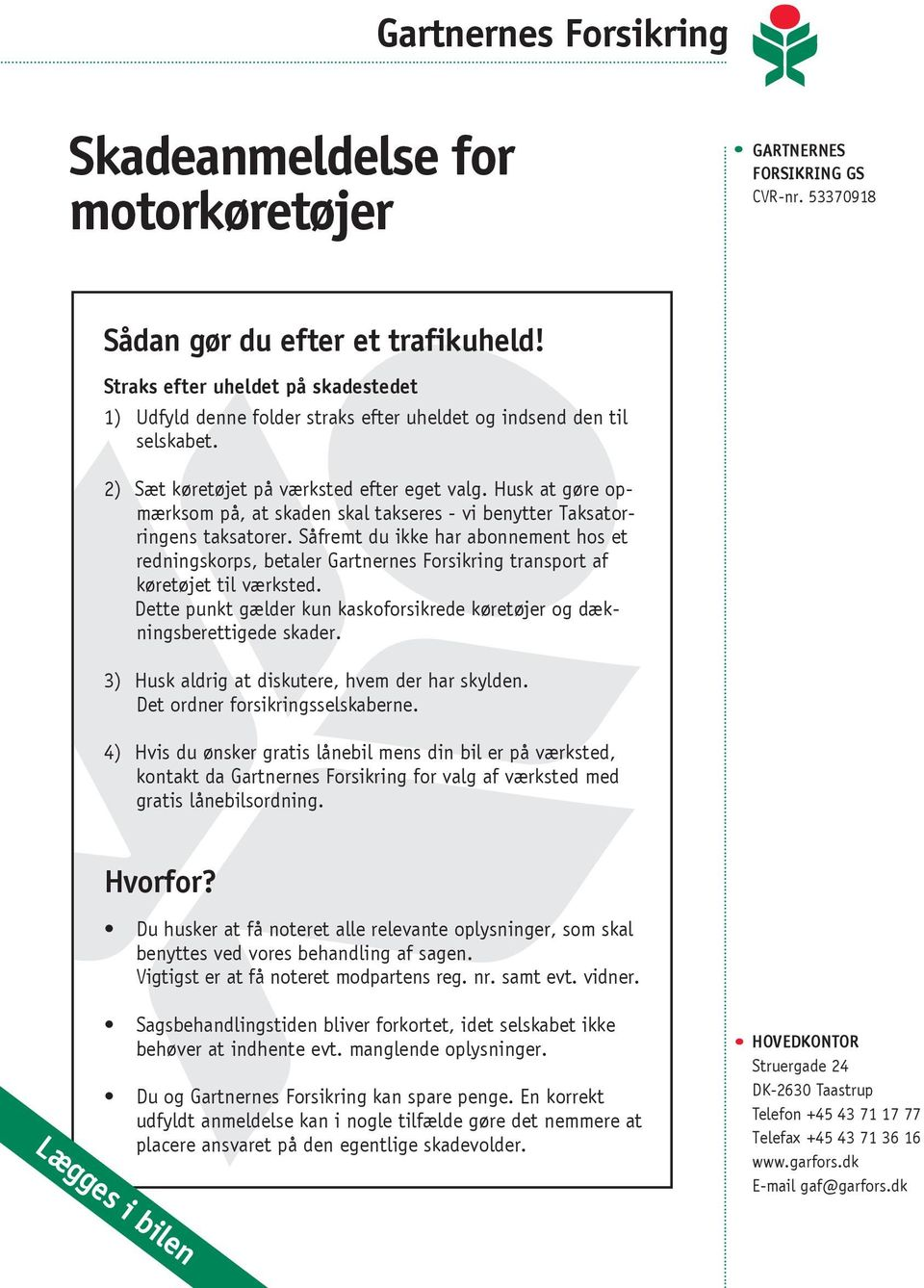 registret for motorkøretøjer