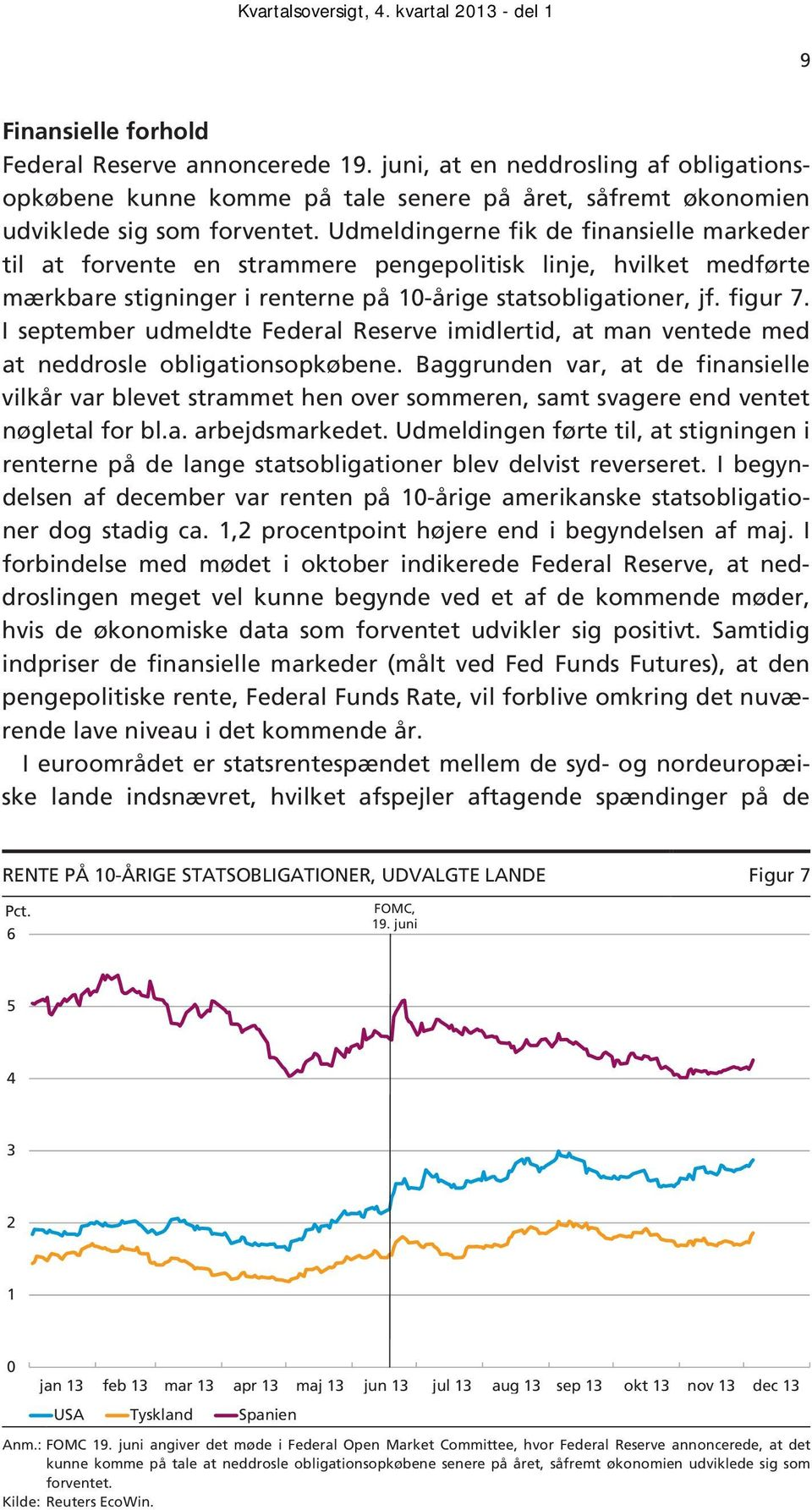 I september udmeldte Federal Reserve imidlertid, at man ventede med at neddrosle obligationsopkøbene.