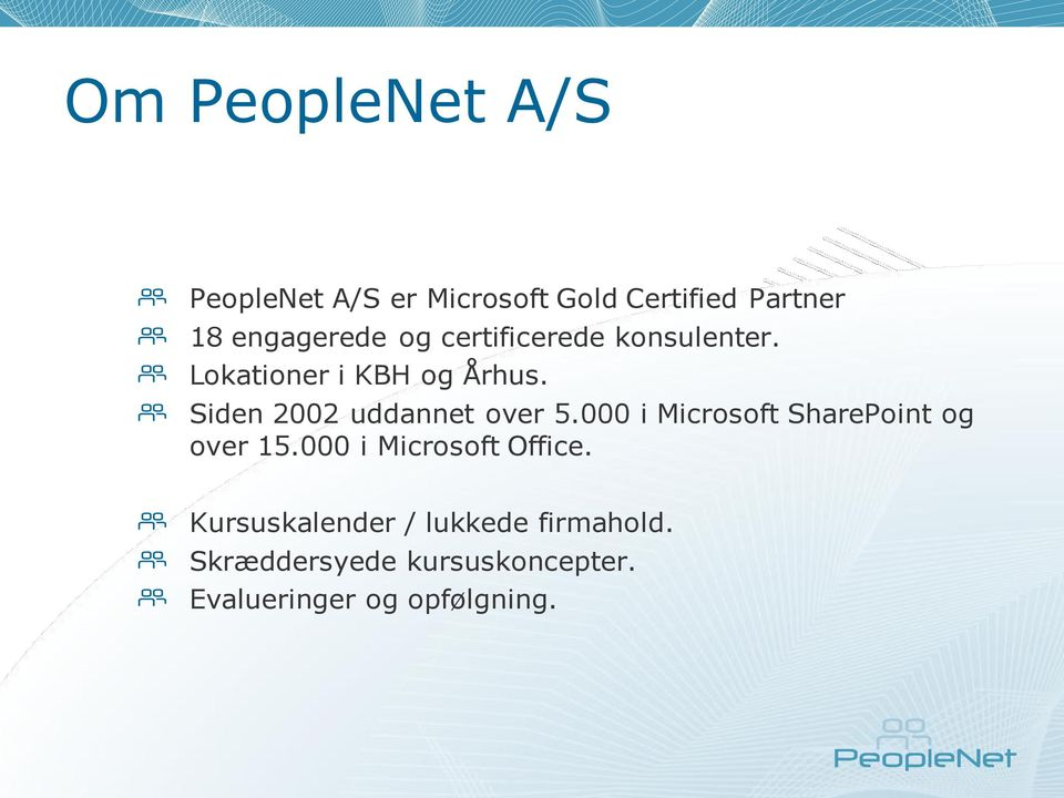 Siden 2002 uddannet over 5.000 i Microsoft SharePoint og over 15.