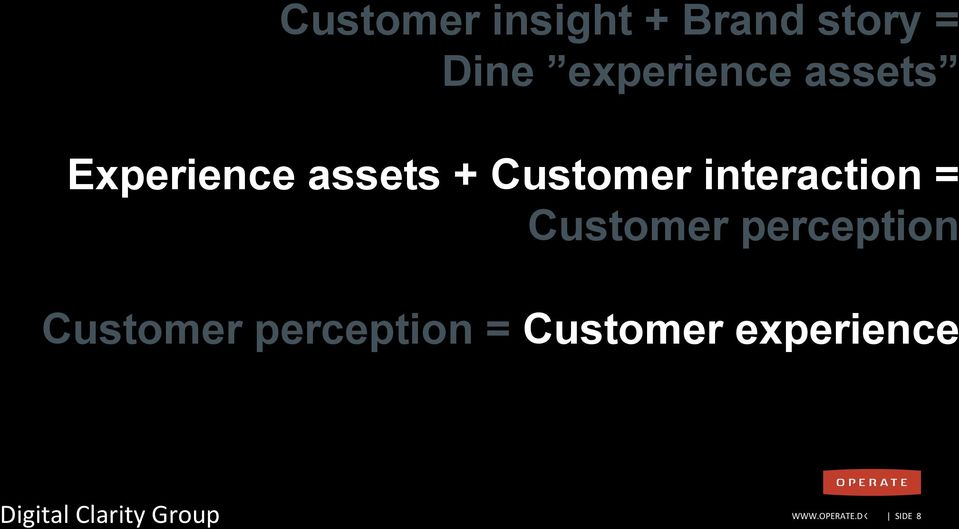 interaction = Customer perception Customer