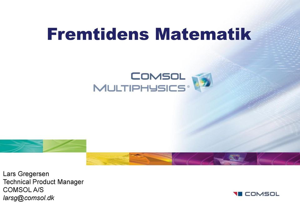 Manager COMSOL A/S