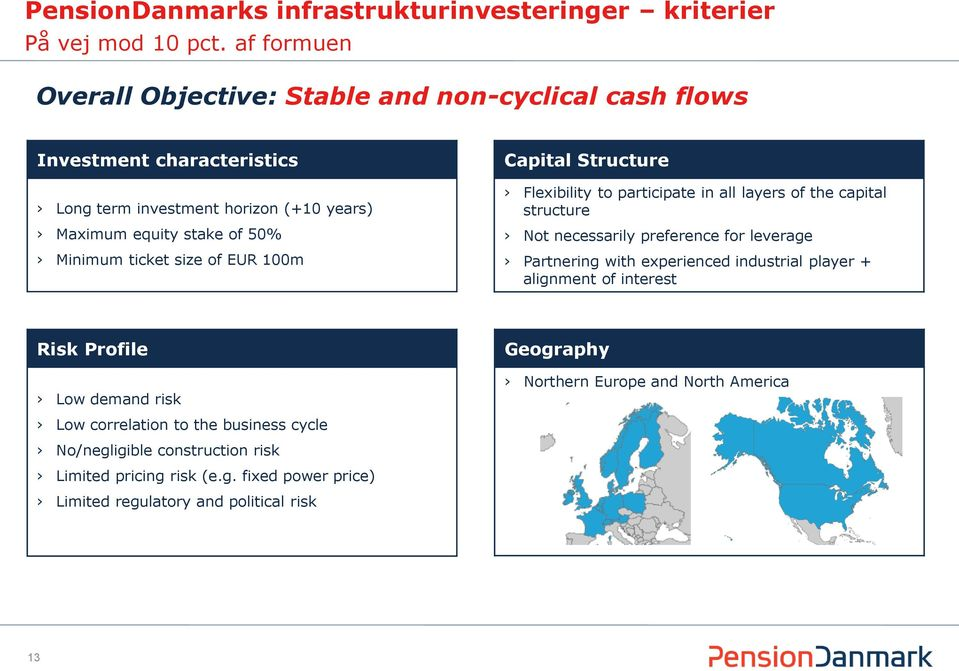 ticket size of EUR 100m Capital Structure Flexibility to participate in all layers of the capital structure Not necessarily preference for leverage Partnering with