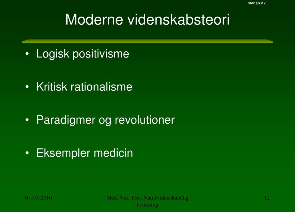 rationalisme Paradigmer og