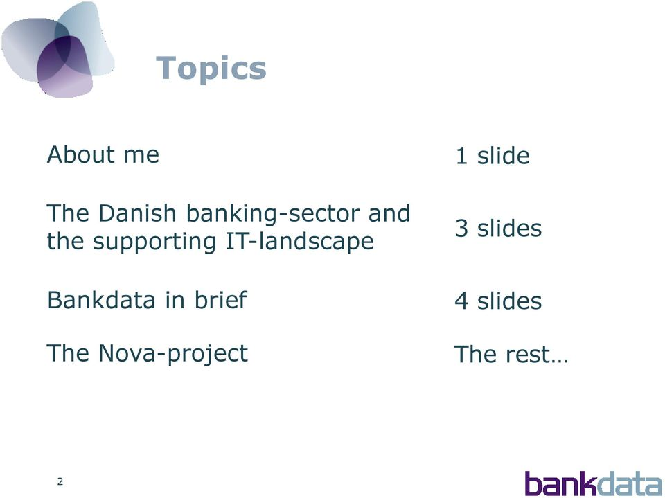 IT-landscape Bankdata in brief The