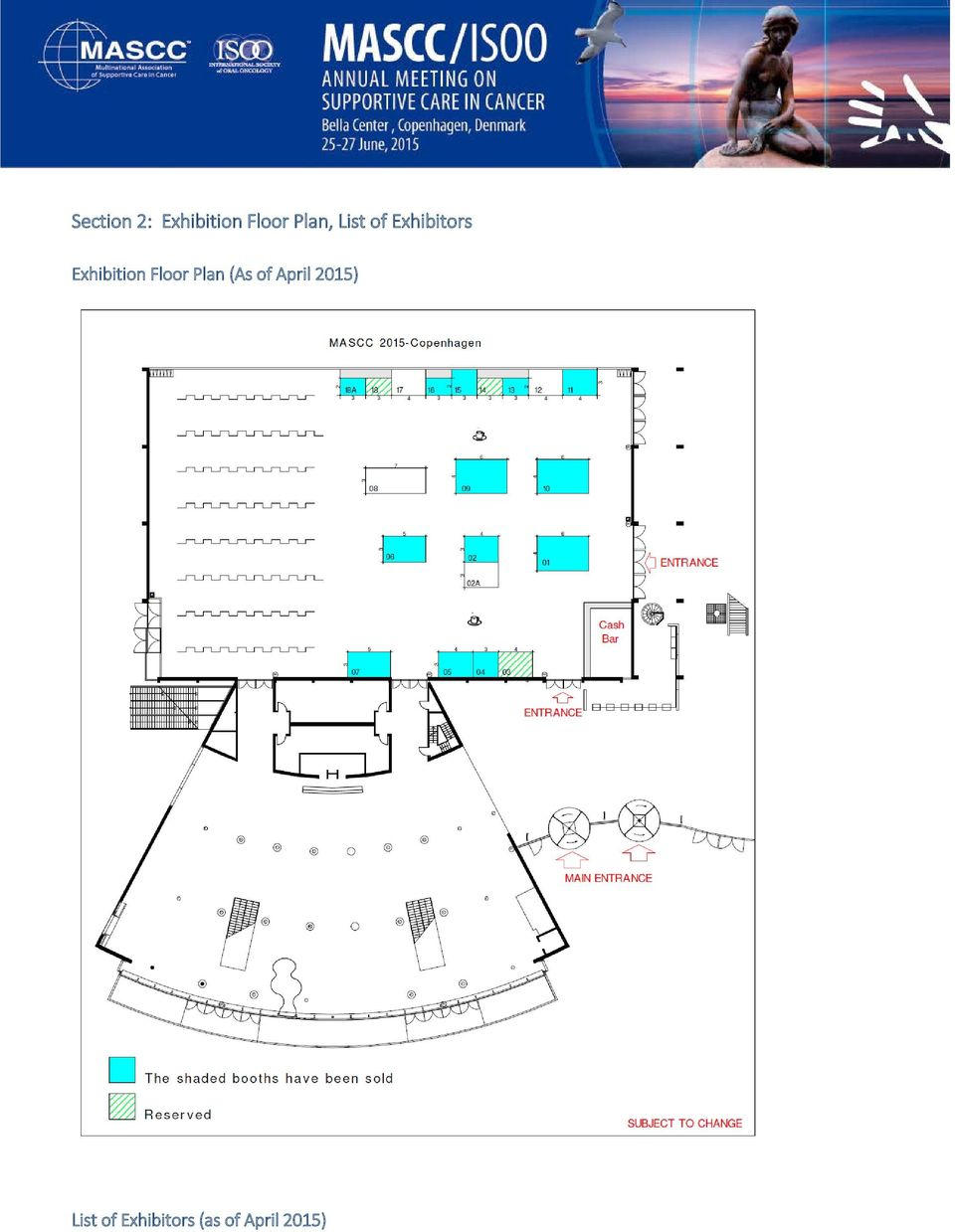 Exhibition Floor Plan (As of